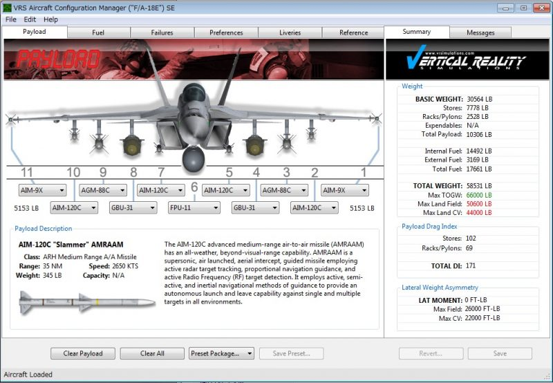 Aircraft Configuration Manager