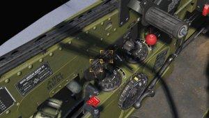 TF-51D クーラントラジエータエアコントロールスイッチと、オイルラジエータエアコントロールスイッチを「AUTOMATIC」へ移動します。
