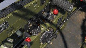 TF-51D ラダートリム、エルロントリム、エレベータトリム