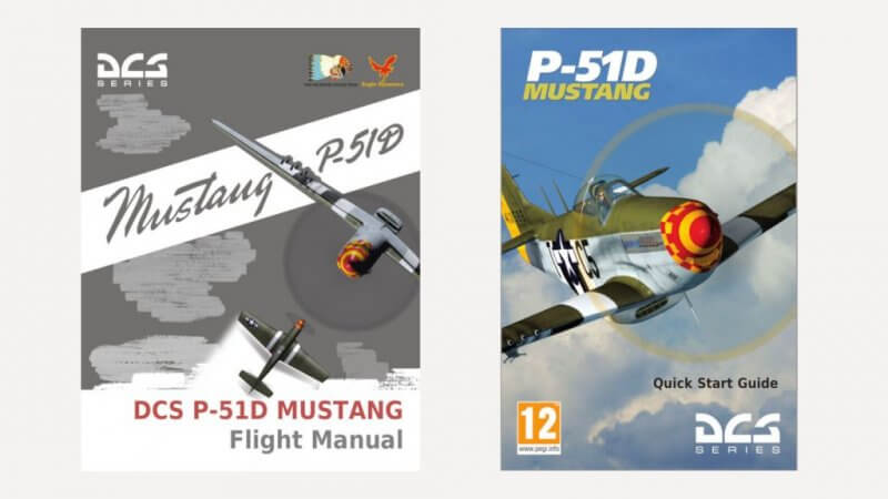 「DCS P-51D Flight Manual EN.pdf」と「DCS P-51D QuickStart Guide EN.pdf」の2つがあります。