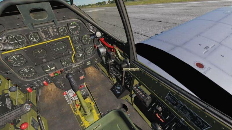 TF-51D キャノピーオープン