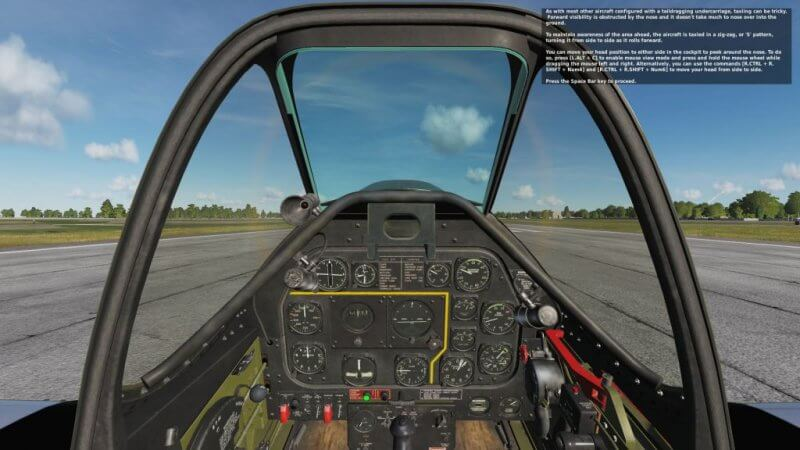TF-51D 座っている状態の視界です。