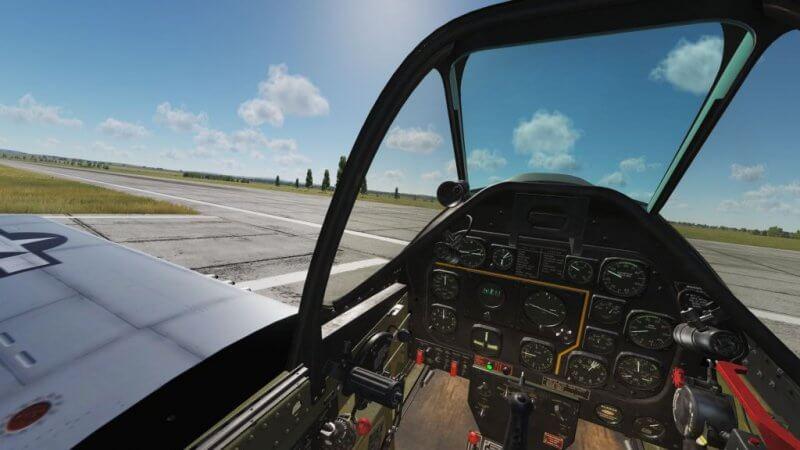 TF-51D 離陸前チェック中