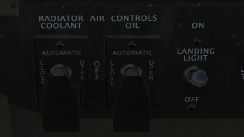 TF-51D Radiator Air Control Panel